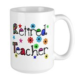 retired teacher stars flowers Mug