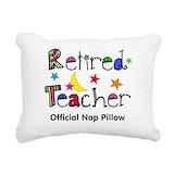 Retirement teacher Throw Pillows