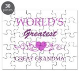 World's Greatest Great Grandma (purple) Puzzle