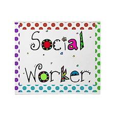 social worker polka dots 2 Throw Blanket