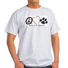 peace love adoption.001 T-Shirt