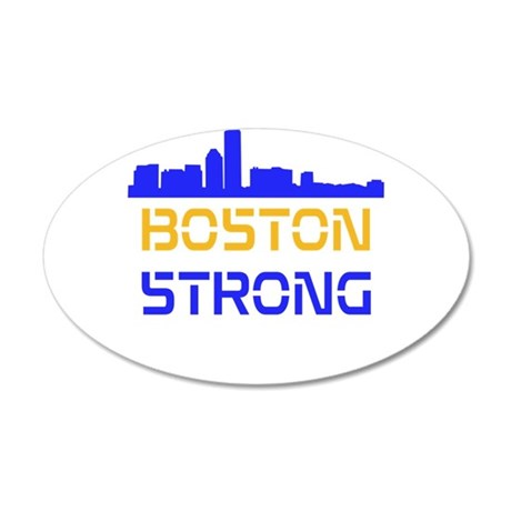 Boston Strong Skyline Multi-Color Wall Decal
