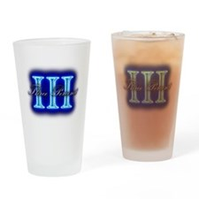 Three Percent Clear Glow Drinking Glass