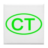 CT Oval - Connecticut Tile Coaster