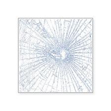 Broken Glass 2 White Sticker