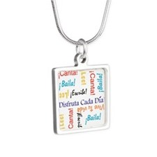 Viva Tu vida Silver Square Necklace