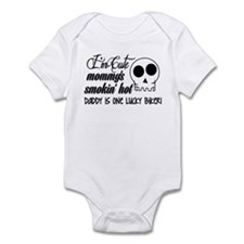 Smokin' Hot Mommy, Lucky Biker Daddy Infant Bodysu