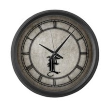 Gothic Initial E Large Wall Clock