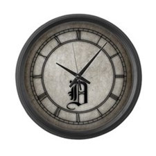 Gothic Initial D Large Wall Clock