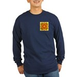 Brown Shield Design Long Sleeve Dark T-Shirt
