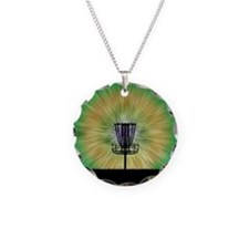 Tie Dye Disc Golf Basket Necklace