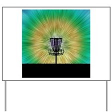 Tie Dye Disc Golf Basket Yard Sign