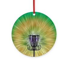 Tie Dye Disc Golf Basket Ornament (Round)