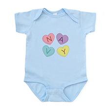 Navy Sweettarts Infant Bodysuit