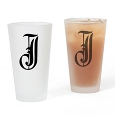 Gothic Initial J Drinking Glass