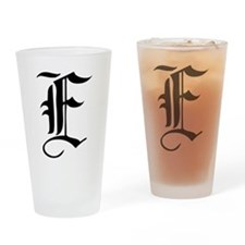 Gothic Initial E Drinking Glass