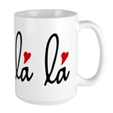 Oh la la, French word art with red hearts Mug