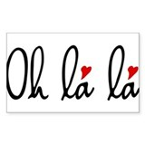 Oh la la, French word art with red hearts Decal