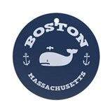Boston Whale Excursions Ornament (Round)