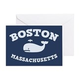 Boston Whale Excursions Greeting Card