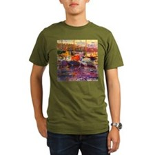 z @oil on canvasA - Organic Men's T-Shirt @darkA