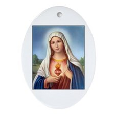 Immaculate Heart of Mary Oval Ornament