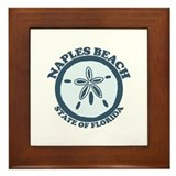 Naples Beach - Sand Dollar Design. Framed Tile