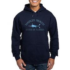 Naples Beach - Fishing Design. Hoodie
