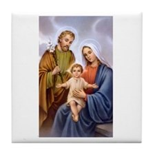 Jesus, Mary and Joseph Tile Coaster