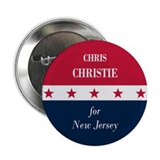 "Chris Christie for NJ 2.25"" Button"