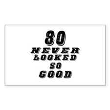 80 Birthday Designs Decal