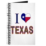 I Love Texas Bluebonnet Flag Journal