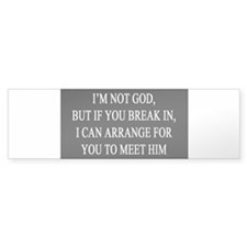 IM NOT GOD copy Bumper Bumper Sticker
