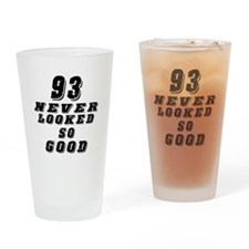 93 Birthday Designs Drinking Glass