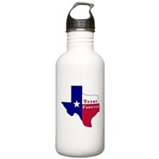 Texas Forever Flag Map Water Bottle
