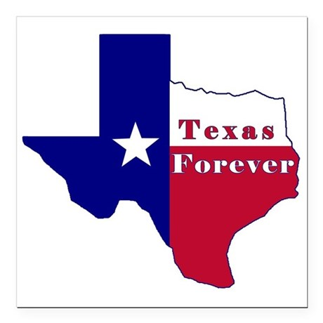 Texas Forever Flag Map Square Car Magnet 3quot X 3quot By