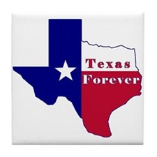 Texas Forever Flag Map Tile Coaster