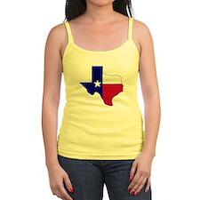 Texas Flag Map Jr.Spaghetti Strap