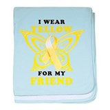 I Wear Yellow For My Friend baby blanket
