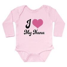 I Love Nana Long Sleeve Infant Bodysuit