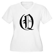 Gothic Initial Q T-Shirt