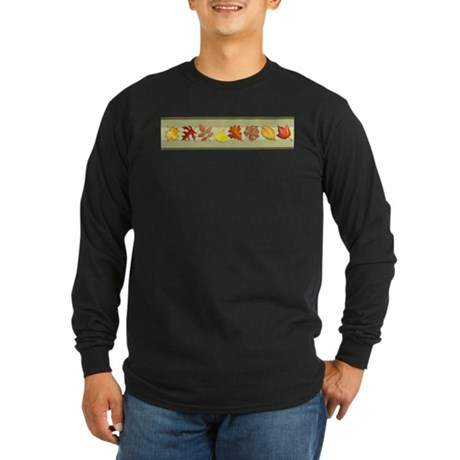 Leaves Long Sleeve Dark T-Shirt