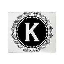 Monogram Medallion K Throw Blanket