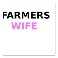"Farmers Wife Square Car Magnet 3"" x 3"""