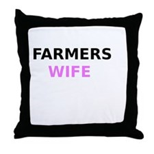 Farmers Wife Throw Pillow