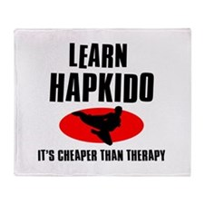 Hapkido silhouette designs Throw Blanket