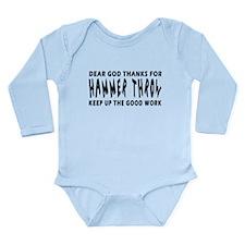 Dear God Thanks For Hammer throw Onesie Romper Suit