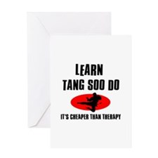 Tang Soo Do silhouette designs Greeting Card