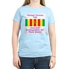 Vietnam Veterans Wife Women's Pink T-Shirt