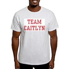 TEAM CAITLYN  Ash Grey T-Shirt